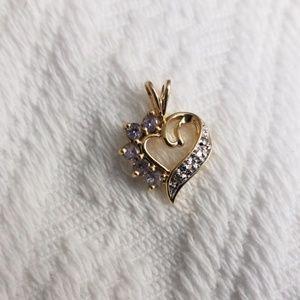 Jewelry - 10k gold tanzanite heart pendant